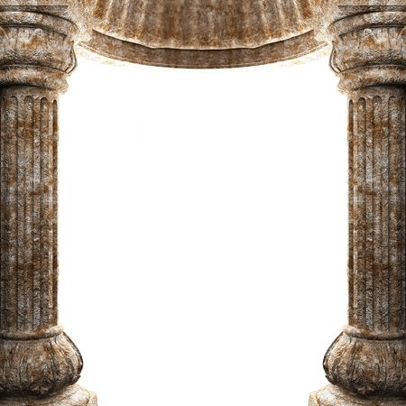 stone columns and arch  photo