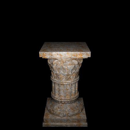 stone column  photo