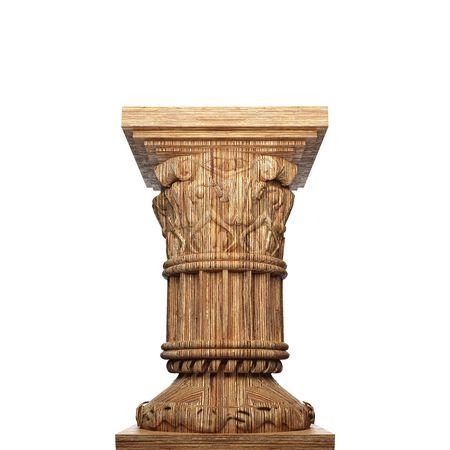 roman pillar: wooden  column  Stock Photo