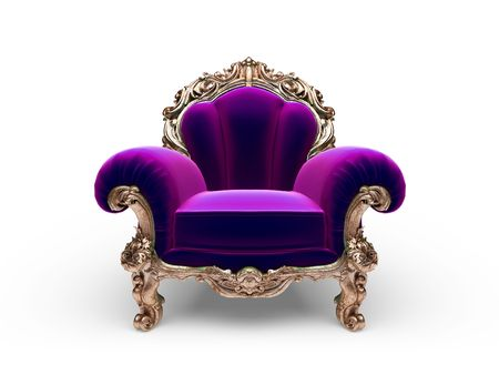 isolated classic golden chair Stock Photo - 6832394