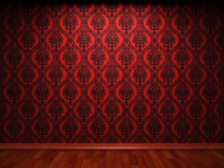 dirty room: illuminated fabric wallpaper