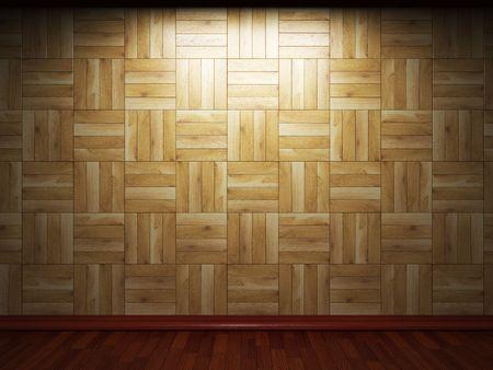 illuminated wooden wall Stock Photo - 6832539