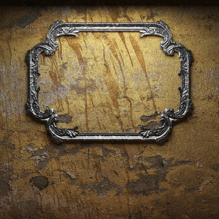 old concrete wall and frame  photo