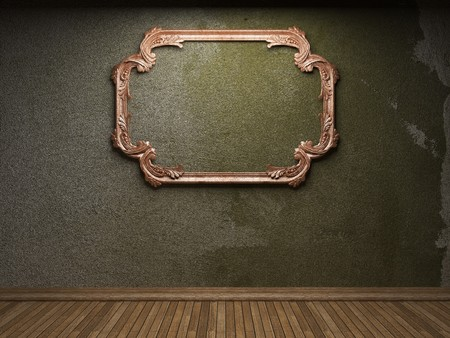 old concrete wall and frame Stock Photo - 6871420