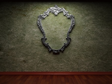 old concrete wall and frame Stock Photo - 6871412