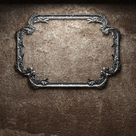 old concrete wall and frame Stock Photo - 6871382