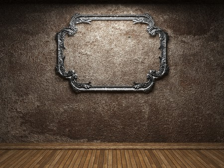 old concrete wall and frame Stock Photo - 6871423