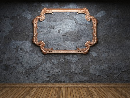 old concrete wall and frame Stock Photo - 6871425