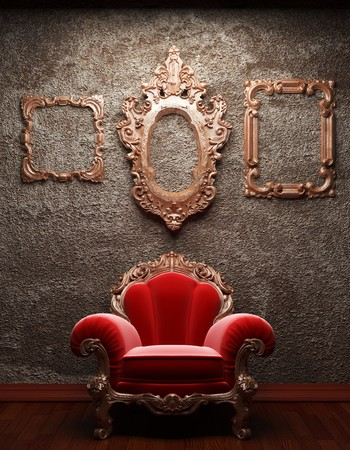 old concrete wall and chair Stock Photo - 6871373