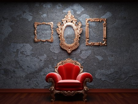 old concrete wall and chair Stock Photo - 6871416