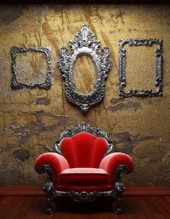 old concrete wall and chair Stock Photo - 6871374