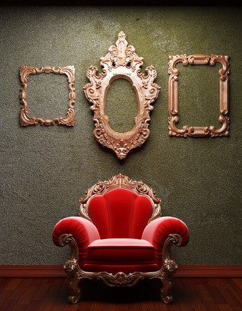 old concrete wall and chair Stock Photo - 6871375