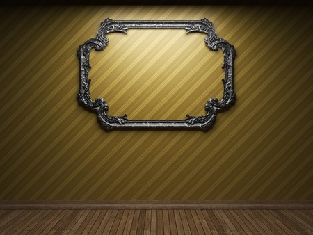 illuminated fabric wall and frame Stock Photo - 7035705
