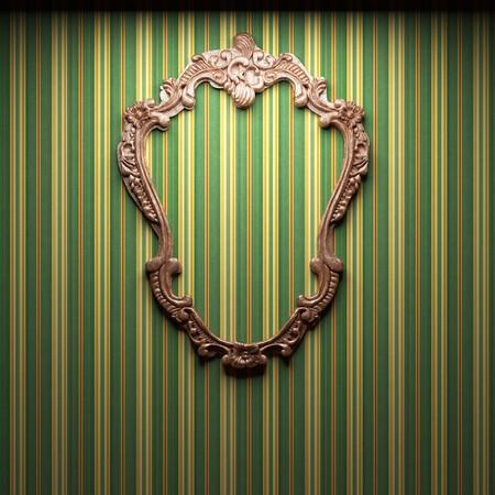 illuminated fabric wall and frame  photo