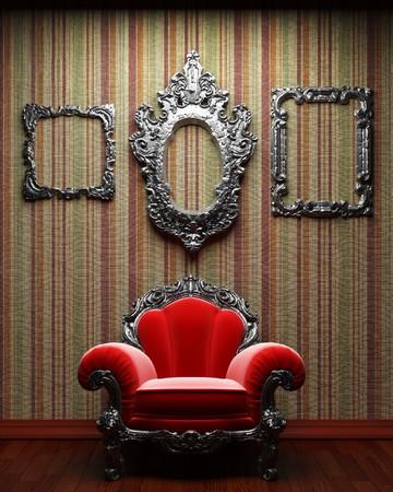 illuminated fabric wall and chair Stock Photo - 7035722