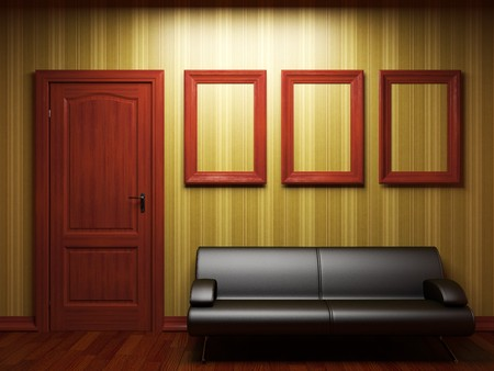 sofa, door and frames  photo