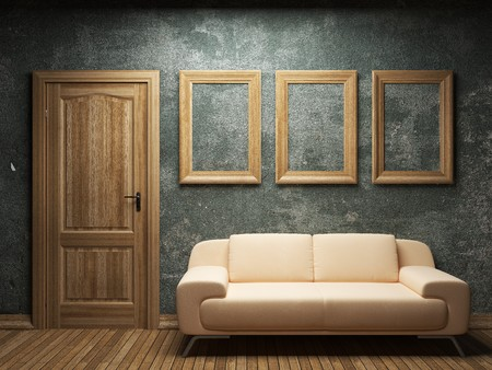 sofa, door and frames  Stock Photo - 7068414