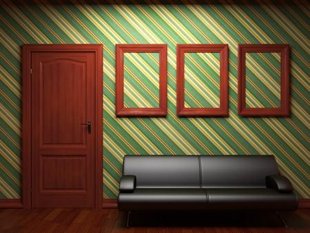 sofa, door and frames Stock Photo - 7068410