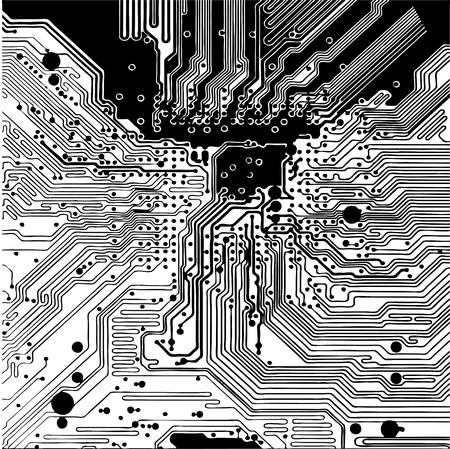 Computer circuit board  Vector