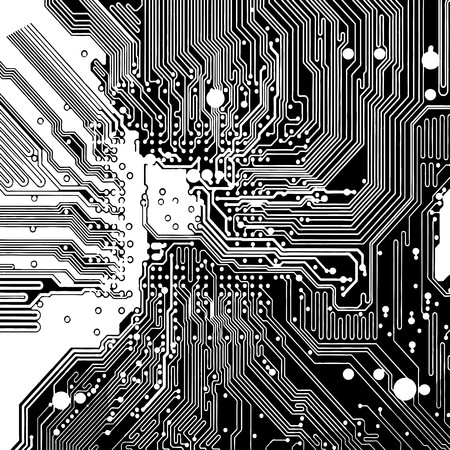 Computer circuit board Illustration