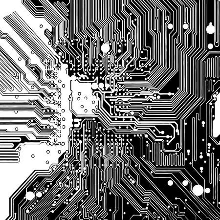 silicon: Computer circuit board Illustration