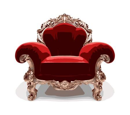 butacas: cl�sica silla dorada