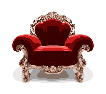 classic golden chair  Vector