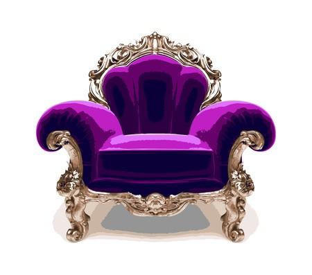 carve: silla de oro cl�sico aislado