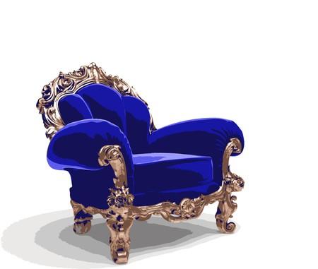 classic golden chair Stock Vector - 7334367