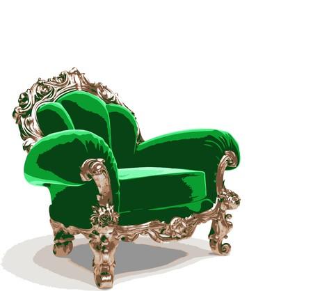 velvet texture: classic golden chair  Illustration