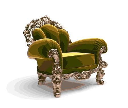 classic golden chair Stock Vector - 7334394