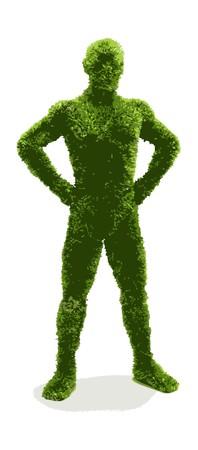 Herbal man  Vector