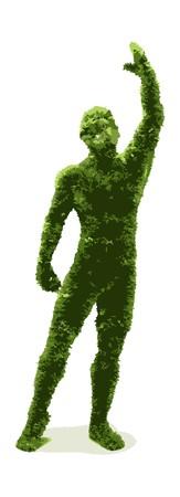Herbal man Stock Vector - 7334377
