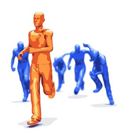 plastic character winner Vector