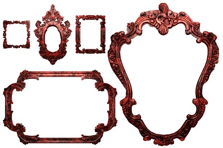 wooden antique frame made 3 D graphics Stock Photo - 7758079