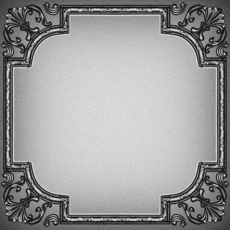 plate with classic ornament made in 3D  photo
