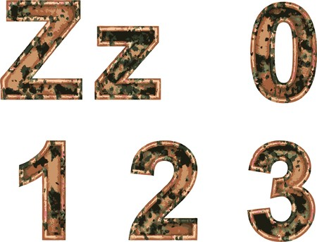 Arial Black Alphabet stylized to rusty painted metal  Stock Vector - 7758076