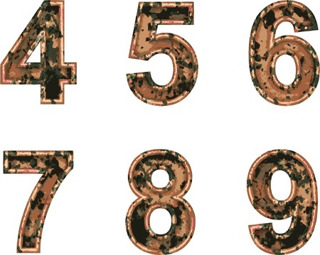 Arial Black Alphabet stylized to rusty painted metal Stock Vector - 7758075