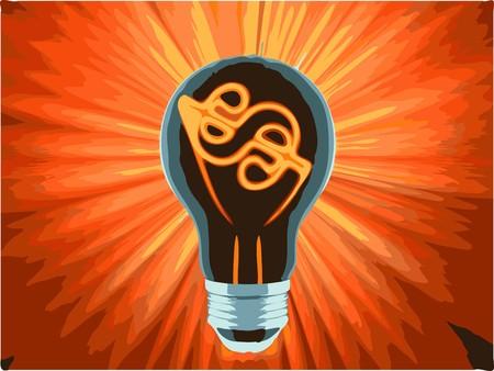bulb, which represents the profitable idea Vector