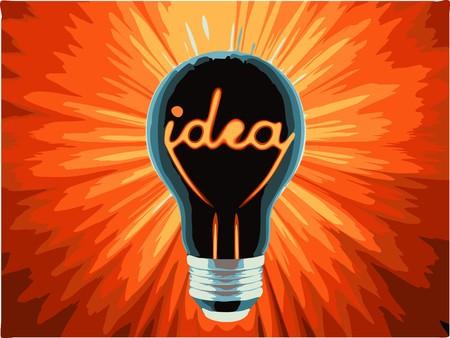 bulb, which represents the birth of the idea Vector