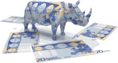 euro origami rhino Stock Vector - 7758109