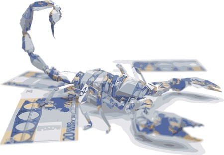 make an investment: euro origami scorpion