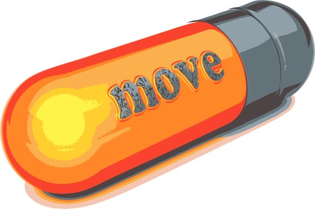 isolatedrn: gray capsule move Illustration
