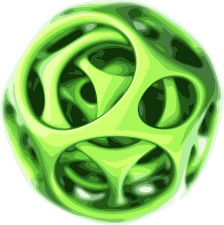 plastic spherical designer  Vector