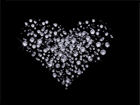 Valentines Day diamonds Vector