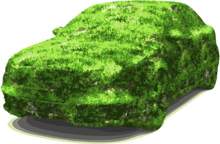 vehicle designed as an herbal  Vector