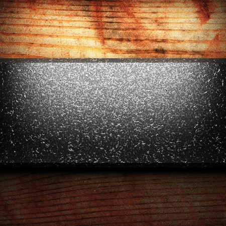 iron plate on wood made in 3D Stock Photo - 7758203