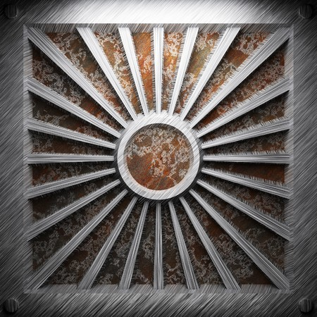 aluminum and rusty metal plate made in 3D Stock Photo - 7758232