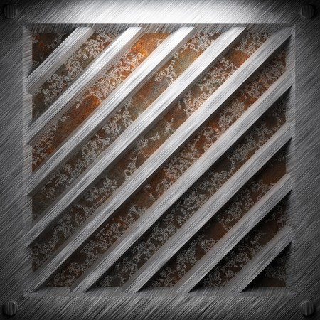 aluminum and rusty metal plate made in 3D Stock Photo - 7758229
