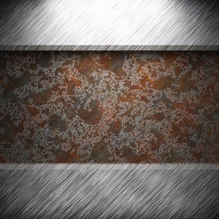 aluminum and rusty metal plate made in 3D Stock Photo - 7758233